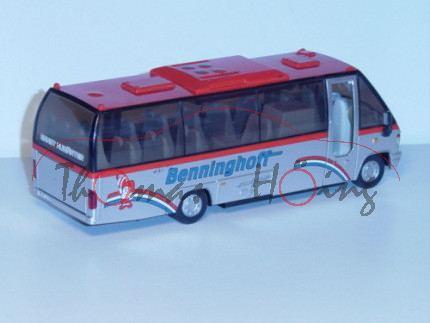 Midi-Bus, verkehrsrot/weißaluminiummetallic, Benninghoff / exclusive / ERNST AUWÄRTER, grauer Druck