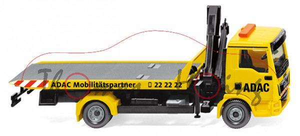 ADAC - MAN TGL Euro 6 Abschleppwagen, rapsgelb, ADAC Möbilitätspartner 22 22 22, Wiking, 1:87, mb