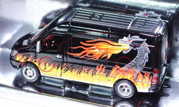 Mercedes Sprinter II Transporter 213 CDI / 313 CDI (NCV 3, Typ W 906), Modell 2006-, schwarz, blackl