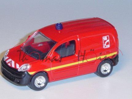 Renault Kangoo 2007 (2. Generation, Typ W), Modell 208-2013, feuerrot, 18 C 112, mit Blaulicht, rech