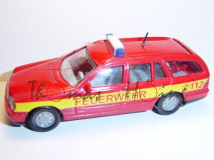 Mercedes E 290 T Feuerwehr-Einsatzleitwagen, karminrot, FEUERWEHR C 112, mit Druck TURBODIESEL hinte