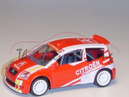 Citroen C2 SUPER 1600, rot/weiß, CITROEN C2 SUPER 1600, 1:50, Norev Racing, mb