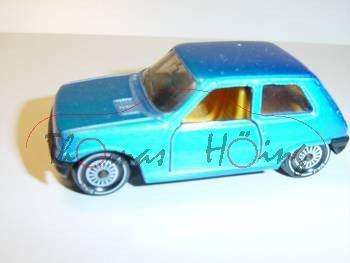 Renault 5 Automatik (Dreitürer), Modell 1978-1984, blaumetallic, R11, Germ auf dem Kopf, Glas rauch,