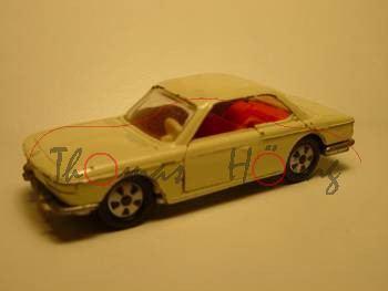 BMW 2000 CS, Modell 1965-1970, cremeweiß, IE rotorange, Lenkrad weiß, FS+HL Metall, R9, vsc