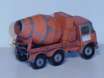 Ready-Mix Concrete Truck, verkehrsorange, READY MIXED / CONCRETE / UNITED KINGDOM / LIMITED und Read