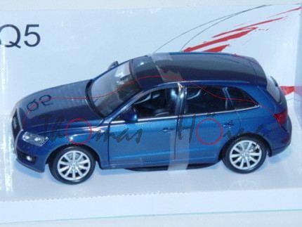 Audi Q5 (Typ 8R), Modell 2008-2012, blaumetallic, MondoMotors, 1:24, mb