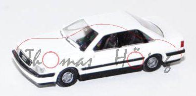 Audi V8 (D11, Typ 4C), Modell 1988-1994, reinweiß, kleine Felgen, Rietze, 1:87, mb