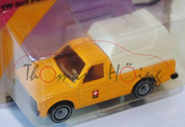 03900 VW Rabbit Pickup (vgl. Caddy I) (Typ 14D), Modell 1979-1983, chromgelb, innen weiß, Lenkrad sc