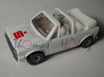 VW Golf I Cabriolet GLS (Typ 155, Modell 1979-1987), reinweiß, innen reinweiß, Lenkrad reinweiß, S (