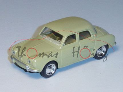 Renault Dauphine 1966, grünbeige, 1:54, Norev RETRO, mb