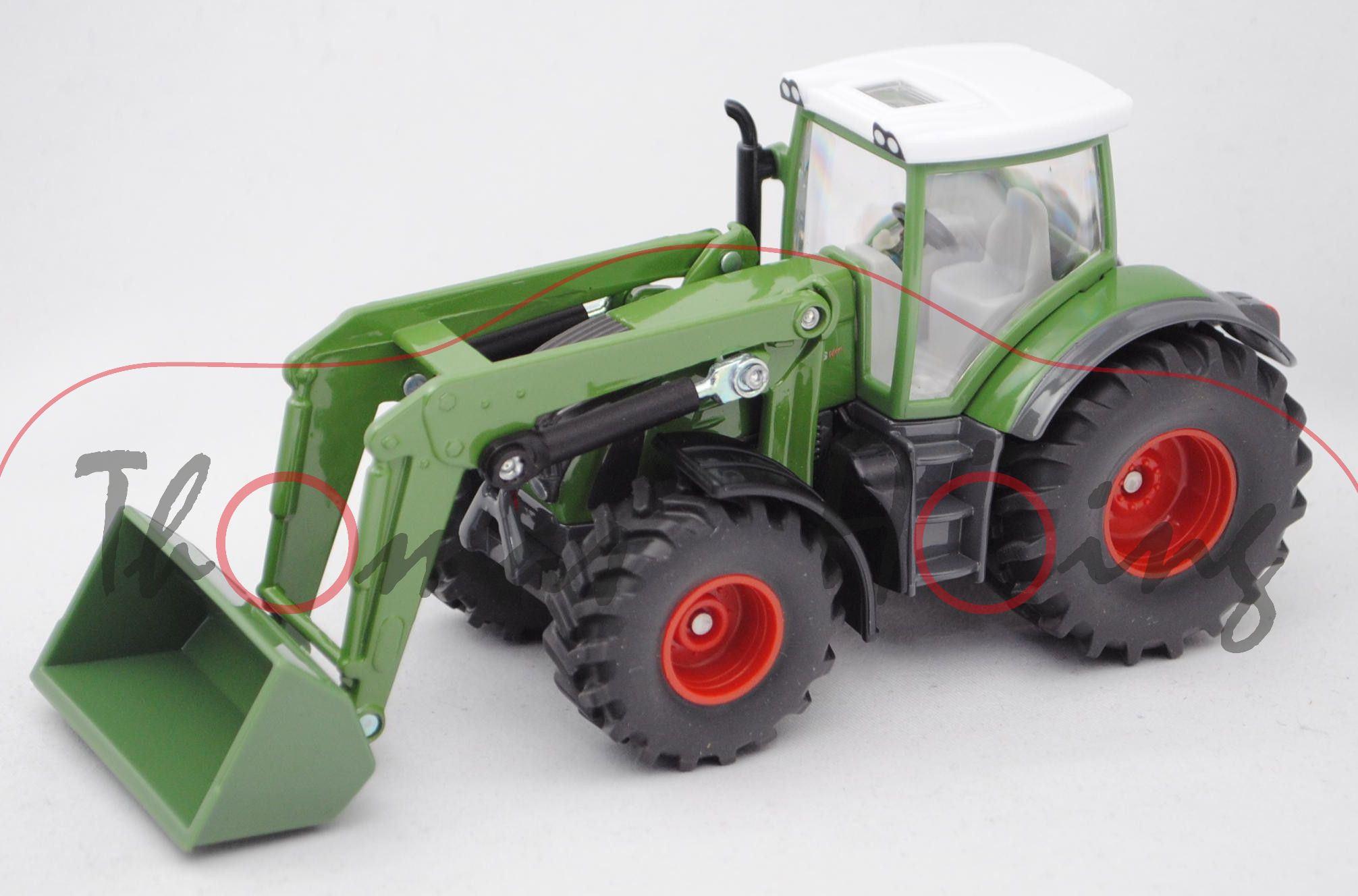 Ck modelcars fendt vario mit frontlader grün