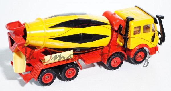Mercedes SK Betonmischer, kadmiumgelb/verkehrsrot, innen gelb, LKW12, L11a