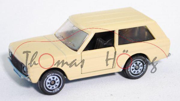00001 Range Rover «Classic» Dreitürer (Mod. 70-85), sandgelb, Verglasung rauch, kleine Lackschäden
