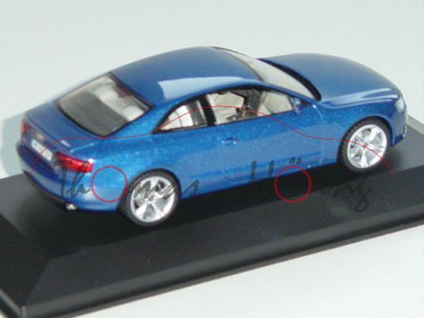 Audi A5, Mj. 2007, arubablau, Schuco, 1:43, Werbeschachtel