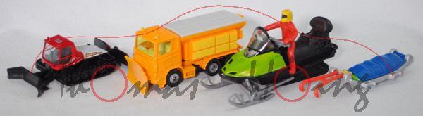 00501 Set Winter: PistenBully + Scania Winterdienst + Snowmobil + Rettungsschlitten, P32mpR Limited