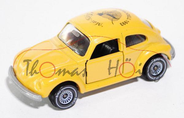 VW Käfer 1303 LS (Typ 13, Modell 1975), gelb, Mai-Käfer / SONDERMODELL 1993, m. Zertifikat, Werbebox