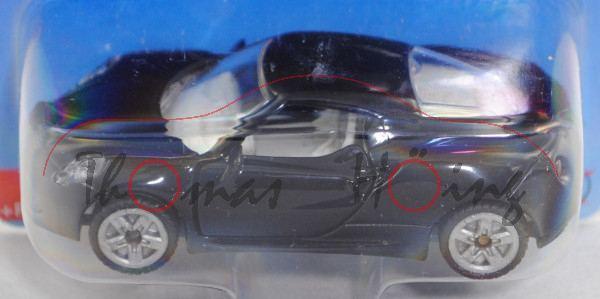 00002 Alfa Romeo 4C (Modell 2013-), schwarz, innen grauweiß, B47 silber, SIKU SUPER, ca. 1:50, P29e