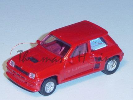 Renault 5 Turbo 1980, Modell 1980-1982, verkehrsrot, TURBO, 1:54, Norev RETRO, mb