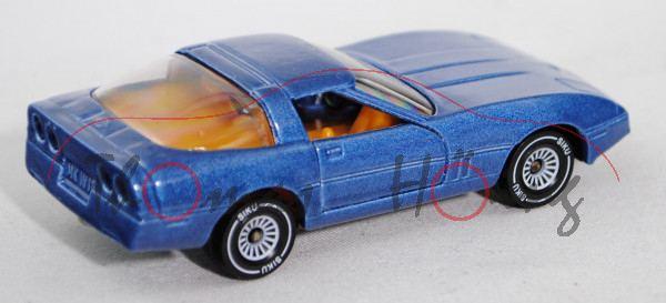 00001 Chevrolet Corvette 5.7 (Typ C4, Smal-Block-V8 Typ L83, Modell 1983-1984), hell-violettblaumeta