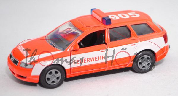 00404 Audi A4 Avant 2.5 TDI quattro (B6, Typ 8E, Modell 2001-2004), hellleuchtrot, FEUERWEHR / 905