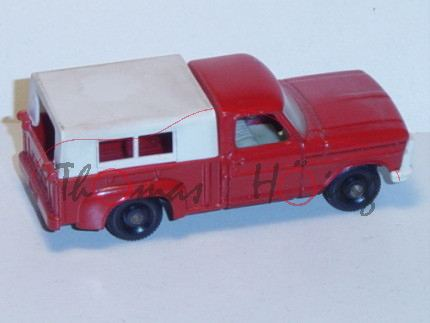 Ford Pickup, feuerrot, abnehmbares Verdeck weiß, Matchbox Series