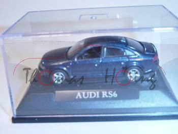 Audi RS6, dunkelblau, Mj 2004, Yat Ming, 1:72, mb