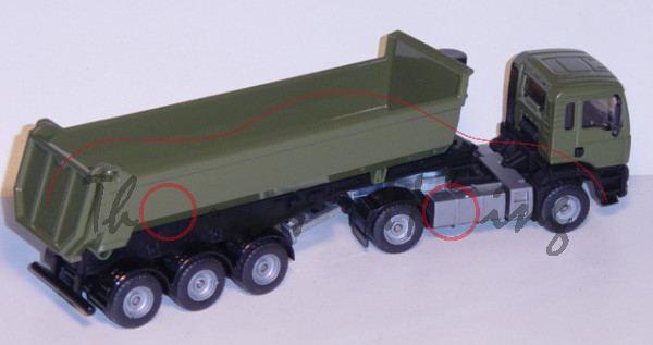 00415 MAN TGA 18.460 M Halfepipe-Sattelkipper, Modell 2000-2007, olivgrün/schwarz, o.K., L17 (Sonder