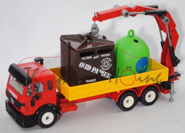 MB SK facelift (Mod. 1994-1998) Recycling-Transporter, rot/gelb, G.H. VELDHUIJZEN B.V., Aufkleber m-