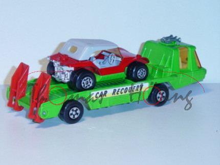 Car Recovery Vehicle, gelbgrün, Aufkleber CAR RECOVERY auf den Seiten, Ladegut: Sand Cat, verkehrsro