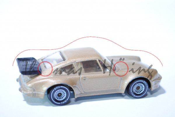 Porsche 911 Turbo 3,3 (G-Modell Typ 930), Modell 1978-1989, hell-braunmetallic, innen weiß, Lenkrad
