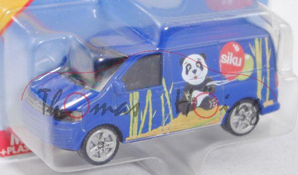 00007 VW T5 facelift Transporter (Typ 7H, 1. Facelift, Mod. 09-15), hell-ultramarinblau, innen+Lenkr