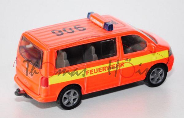 SSC VW T5 Multivan, Modell 2003-2009, tagesleuchtfarbe, mit leuchtgelbem Streifen, FEUERWEHR / SSC 9