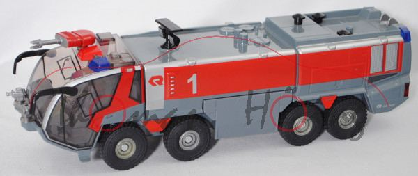 00000 FLF Rosenbauer PANTHER 8x8 MA-5 (Mod. 05-15) Flugfeldlöschfahrzeug, grau/rot, Felgen vergilbt