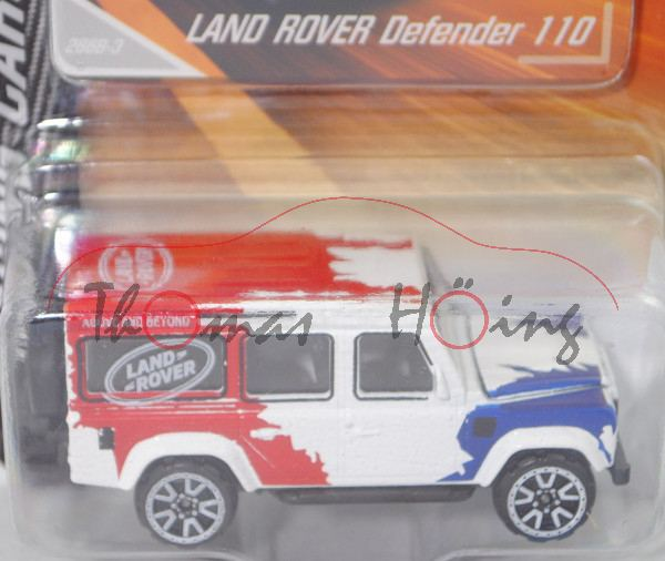 Land Rover Defender 110 CWS (Modell 1990-2016), weiß, Defender Challenge, majorette, ca. 1:60, mb