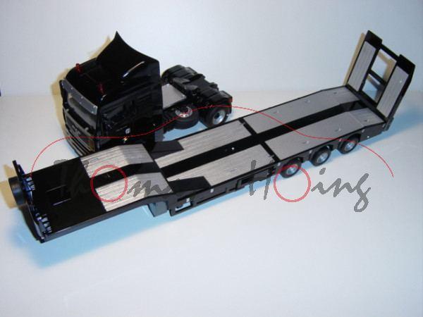 00001 MAN TGA 18.430 mit Tieflader und Fernsteuermodul, schwarz, SIKU Control Funk-Technologie (Radi
