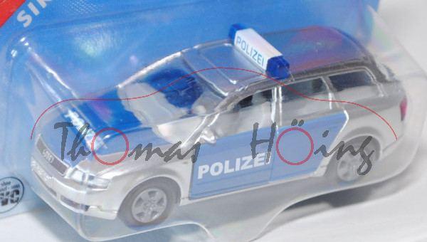 00001 Audi A4 Avant 2.5 TDI quattro (B6, Typ 8E) Polizei-Verkehrsdienst, Modell 2001-2004, chromsilb