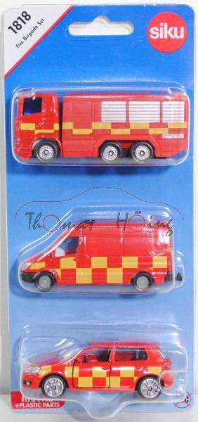00600 GB Fire Brigade Set mit: Scania R380+Mercedes-Benz Sprinter II+VW Golf VI, FIRE & RESCUE, P29e