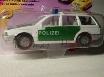 VW Passat Variant (B3, Typ 35i) Polizei-Lautsprecherwagen, Modell 1988-1993, Hong, B6, P23