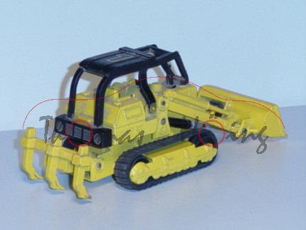 Caterpillar Traxcavator Road Ripper, signalgelb/schwarz, 1, beweglicher Frontlader mit Schaufel und