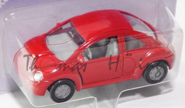 00000 VW New Beetle 2.0 (Typ 9C, Modell 1998-2001), karminrot, innen lichtgrau, Lenkrad lichtgrau, o