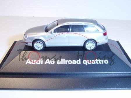 Audi A6 Allroad quattro, Mj 2006, lichtsilber, Herpa, 1:87, PC-Box