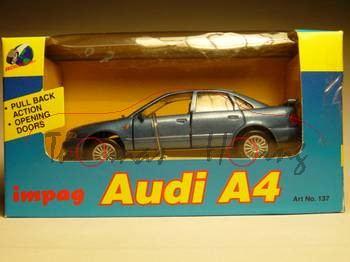 Audi A4, blaumetallic, Impag, 1:43, mb