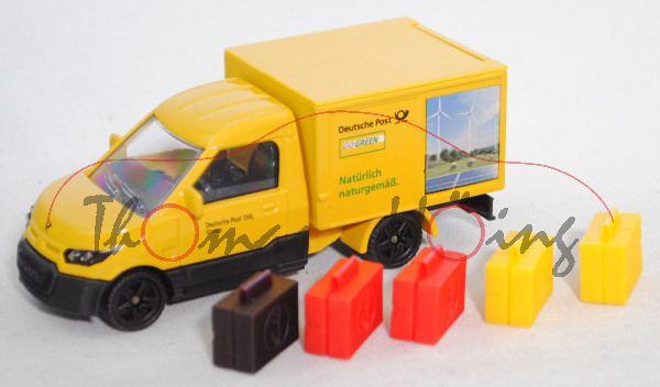 00000 StreetScooter WORK Box (Modell 2014-), gelb, Deutsche Post auf den Seiten, SIKU SUPER, L17mpP