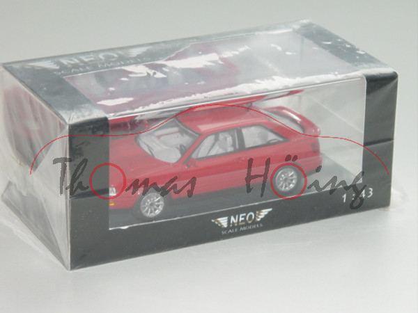 Audi Coupé, Mj. 1991, rot, NEO, 1:43, PC-Box