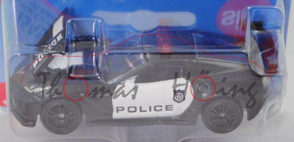 00000 Chevrolet Corvette ZR1 Coupé (Typ C7 , Modell 2018-) US-Police, schwarz, SIKU, P29e
