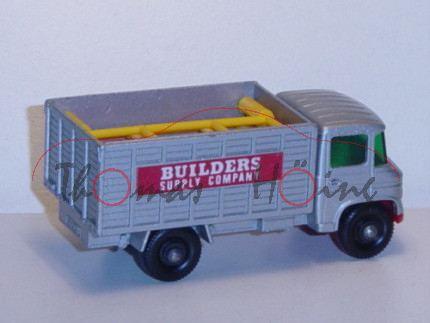Mercedes Scaffold Truck, silbergraumetallic/verkehrsrot, BUILDERS / SUPPLY COMPANY, mit 6 Zäunen, Ma