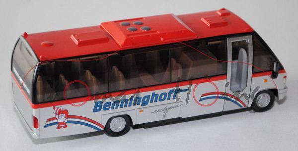 00000 EA TEAMSTAR CITY Reisebus (Typ Midibus, Modell 1998-2004), rot/weißalu, Benninghoff, L17P