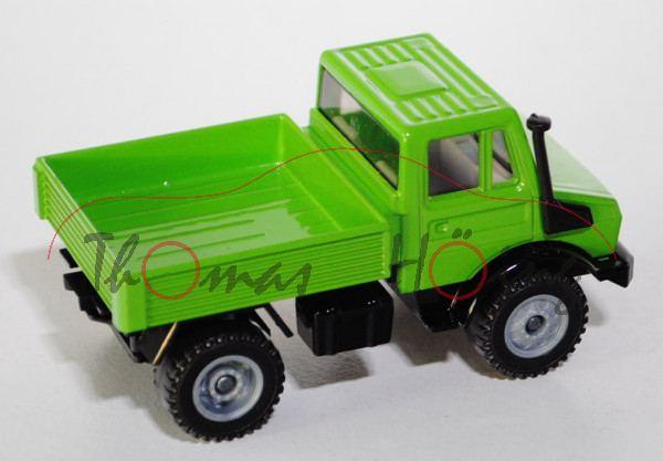 Unimog U 1500 (Baureihe 425), Modell 1975-1988, gelbgrün/schwarz, LKW12, L15