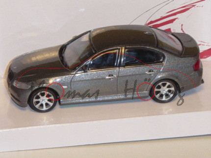 BMW 3er, dunkelgraumetallic, MondoMotors, 1:43, mb