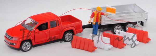 00001 VW Amarok (Mod. 10-16) mit Rückwärtskipper, rot, HL bedruckt, B47 geschlossen silber, L17mpK
